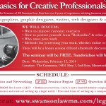 Legal Basics for Creative Professionals